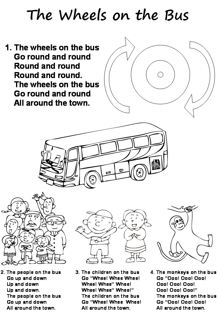 The Wheel On The Bus Is Round Kid Song