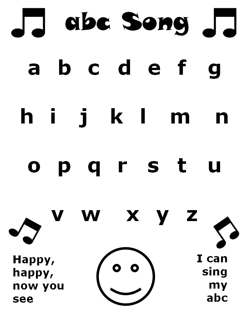 Song Sheets for Kindergarten Kids