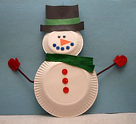 paper plate snowman craft 10 easy crafts to use in your lessons esl 5115