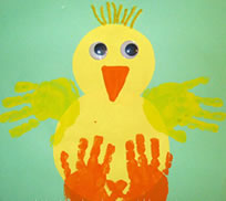 Chick Hand Print Craft