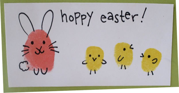 Easter fingerprint picture