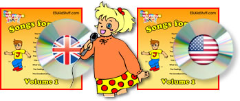ESL Kids songs in American and British English