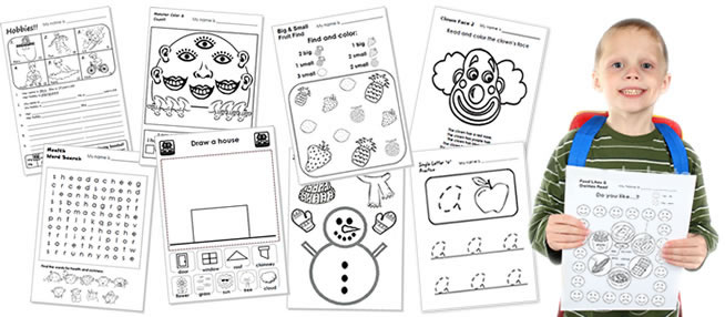 Worksheets for ESL kids