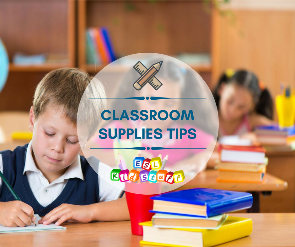 Classroom objects supplies vocabulary matching exercise ... |Esl Classroom Supplies